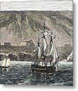 Old Sail Ships Galapagos Island Isabela Metal Print