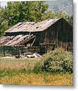 Old Saisia Barn In Spring Metal Print