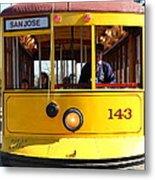 Old San Jose Railroads Cablecar Trolley 143 . San Jose California . 7d12963 Metal Print