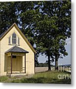 Old School House 1 Of 2 Metal Print
