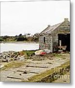 Old Shed By The Sea Metal Print