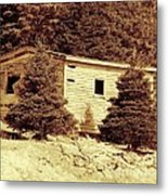 Old Shed Nothing Left But Memories Metal Print