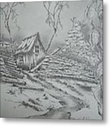 Old Shed Metal Print by Tom Rechsteiner
