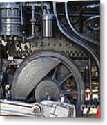 Old Steam Locomotive Engine 1258 . Wheels . 7d13001 Metal Print