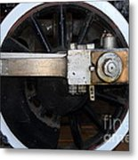 Old Steam Locomotive Engine 5 . The Little Buttercup . Train Wheel . 7d12916 Metal Print