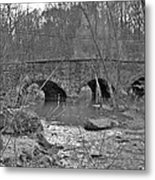 Old Stone Bridge Over The Unami Creek - Sumneytown Pa Metal Print