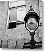 Old Sugg Gas Street Lights Converted To Run On Electric Lighting Aberdeen Scotland Uk Metal Print by Joe Fox