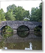Old Sumneytown Pike Bridge Over The Perkiomen Creek Metal Print