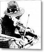 Old Time Fiddle Player No.560 Metal Print