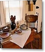 Old Time Kitchen Table Metal Print