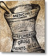Old Time Medicine Ad Metal Print by Wendy White