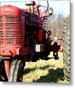 Old Time Tractor Metal Print