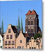 Old Town In Gdansk Metal Print