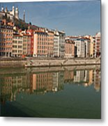 Old Town Of Lyon Metal Print