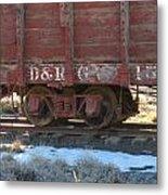 Old Train Boxcar Metal Print