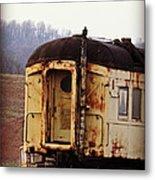 Old Train Car Metal Print