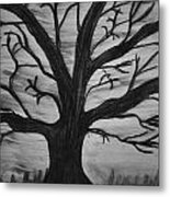 Old Tree With No Leaves Metal Print