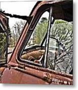 Old Truck Mirror Metal Print