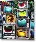 Old Tv's Abstract Metal Print