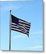 Old Usa Flag Metal Print