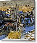 Old Wagon At Bodie Ghost Town Metal Print