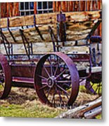 Old Wagon Bodie Ghost Town Metal Print by Garry Gay