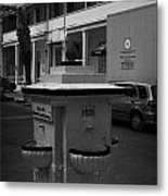 Old Water Fountain In Front Of Old Larnaca Hospital Larnaka Republic Of Cyprus Europe Metal Print
