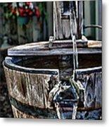 Old Water Pump Metal Print