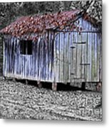 Old Weathered Shed Metal Print