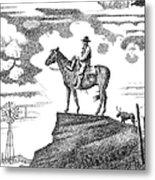 Old-west-art-cowboy Metal Print