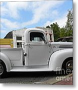 Old White Ford Metal Print