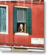 Old Woman Murano Metal Print