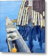 Old Wood Boat Metal Print