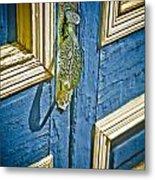 Old Wood Door Metal Print