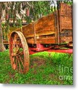 Old Wooden Cart Metal Print