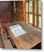 Old Wooden Desk And Chair Metal Print by Jaak Nilson
