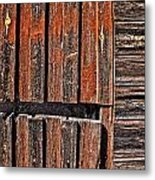 Old Wooden Wall Metal Print