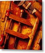 Old Worn Tools Metal Print