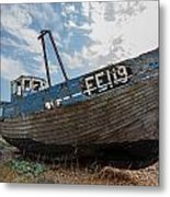 Old Wrecked Fishing Boat Metal Print