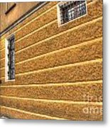 Old Yellow Building Metal Print