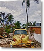 Old Yellow Truck Florida Metal Print