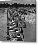 Oldiers Stand By For Inspection Metal Print