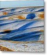 Oldman River Valley In Winter Metal Print