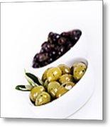 Olive Bowls Metal Print
