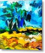 Olive Trees In The Manner Of Van Gogh Metal Print