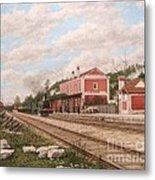 Oliveira Do Bairro Train Station Xix - Estacao Comboio De Oliveira Do Bairro Portugal Metal Print