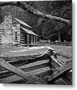 Oliver's Cabin In The Great Smokey Mountains Metal Print
