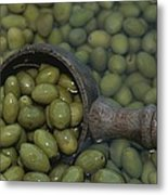 Olives Being Processed In Provence Metal Print