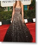 Olivia Wilde Wearing A Marchesa Gown Metal Print