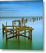 Ols Swanage Pier Metal Print by Mark Leader